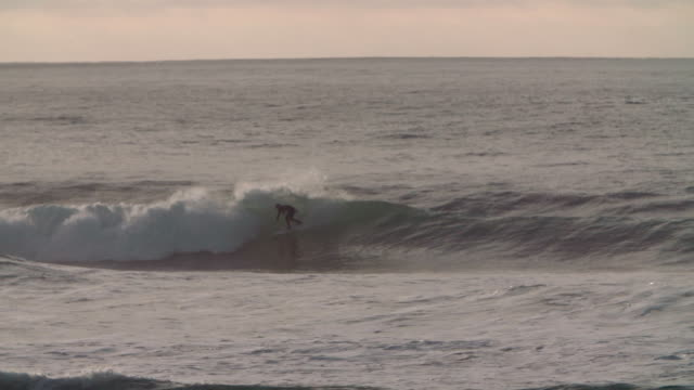 evening surf - channel islands england stock videos & royalty-free footage
