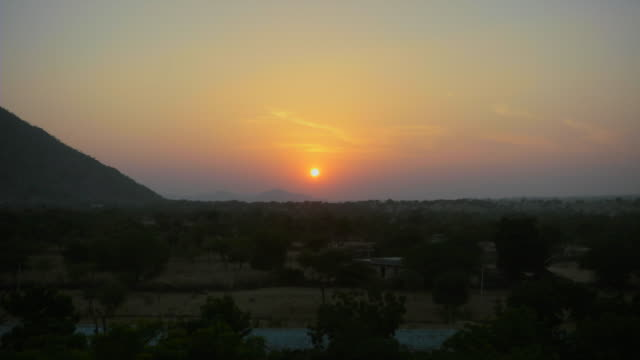evening time lapse in barmer, rajasthan - rajasthan stock videos and b-roll footage