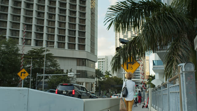 evening traffic on brickell avenue, miami - miami dade county stock videos & royalty-free footage