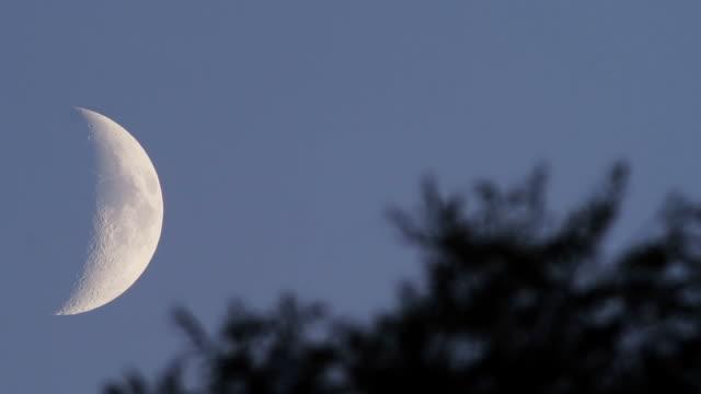 evening - half moon stock videos & royalty-free footage