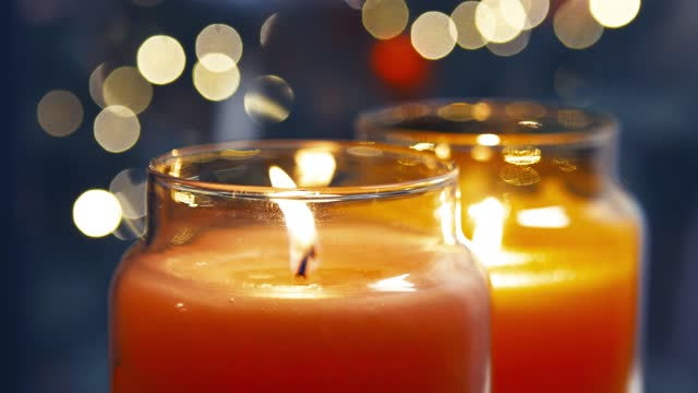 evening with scented candles - candle stock videos & royalty-free footage