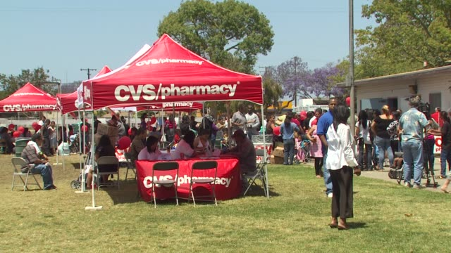 event at the cvs/pharmacy 'la's biggest playdate' at los angeles ca - cvs caremark stock videos and b-roll footage