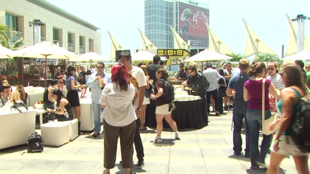 event at the wired cafe at comiccon at san diego ca - アトモスフィア点の映像素材/bロール