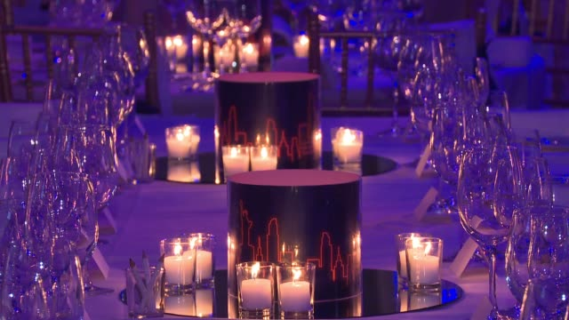 ATMOSPHERE event broll and signage at 2018 Food Bank For New York City's Can Do Awards Dinner at Cipriani Wall Street on April 17 2018 in New York...