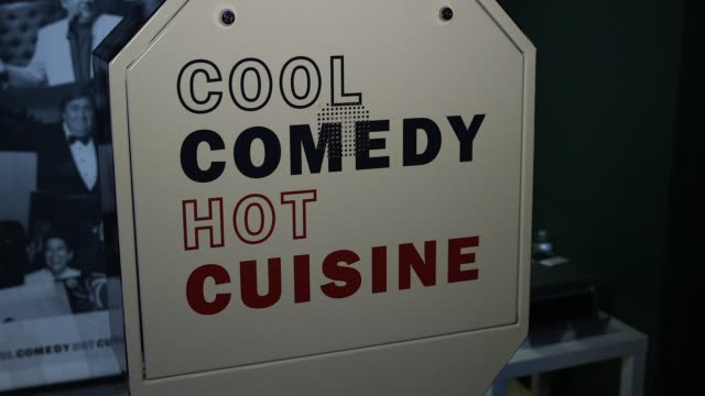 ATMOSPHERE event broll signage at Scleroderma Research Foundation's 30th Anniversary Cool Comedy Hot Cuisine New York at Caroline's Comedy Club on...