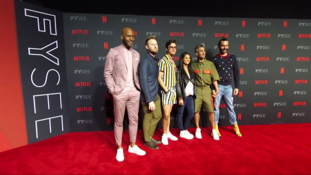 "vídeos de stock, filmes e b-roll de event for ""queer eye"" - arrivals at raleigh studios in los angeles on may 31, 2018 - karamo brown"