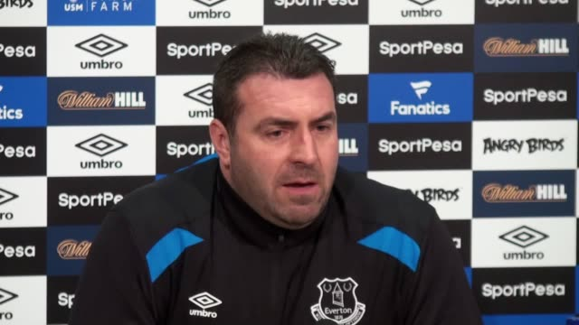 Everton caretaker manager David Unsworth holds a press conference ahead of Watford's trip to Goodison Park