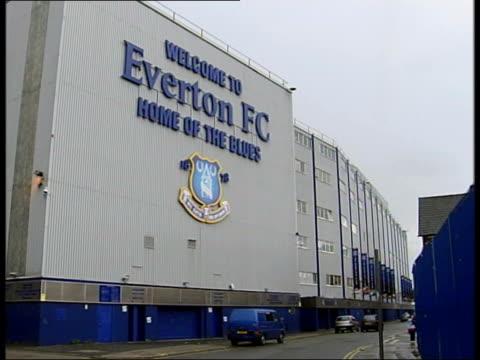 Everton FC stadium T04080415 SLOW MOTION Everton Director Paul Gregg towards from doorway Gregg speaking