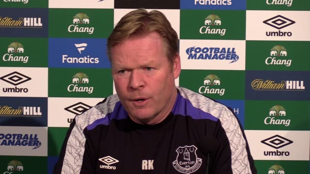 everton koeman koeman says about graham taylor schneiderlin doing further business this month the fitness of maarten stekelenburg and james mccarthy... - soccer association stock videos & royalty-free footage
