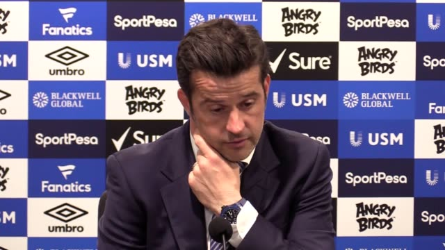 Everton manager Marco Silva talks to the press after his team's 40 victory over Man United at Goodison Park