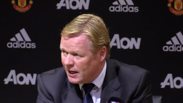 Everton manager Ronald Koeman discusses the defeat 40 against Man United