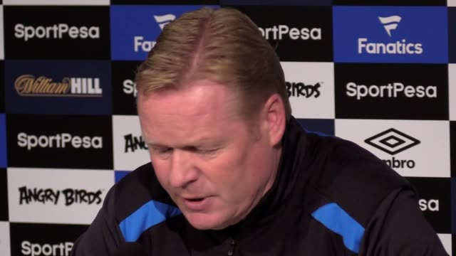 Everton manager Ronald Koeman gave a press conference ahead of the team's Premier League match against Arsenal