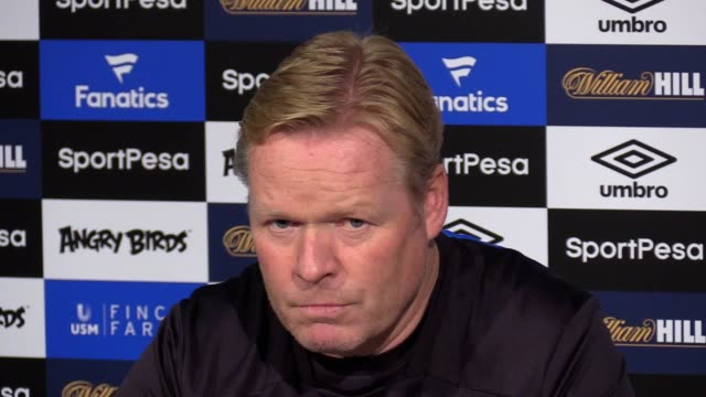 Everton manager Ronald Koeman gives a press conference ahead of the team's Premier League match against Bournemouth