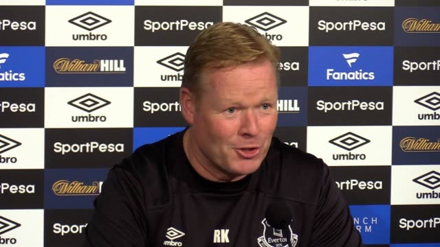 Everton manager Ronald Koeman previews their Europa League match against Ruzomberok and confirms midfielder Ross Barkley is 100% expected to leave...