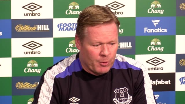 Everton manager Ronald Koeman speaks before facing Tottenhamon on March 5