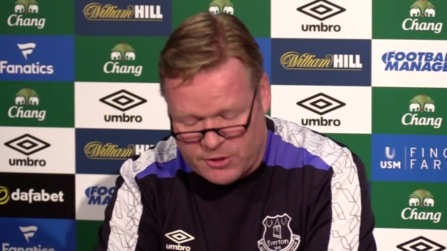 Everton preview press conference with manager Ronald Koeman ahead of Saturday's Premier League match against Liverpool