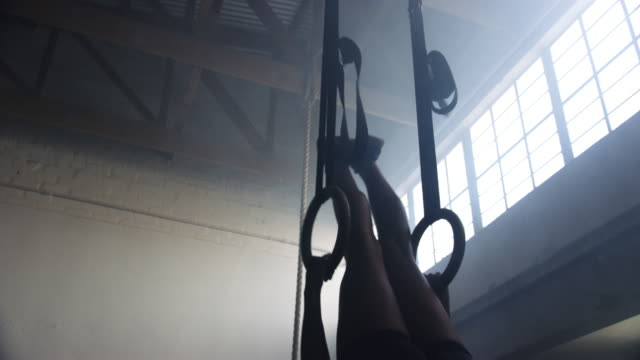 every day is a chance for you to get fit - gymnastic rings stock videos & royalty-free footage