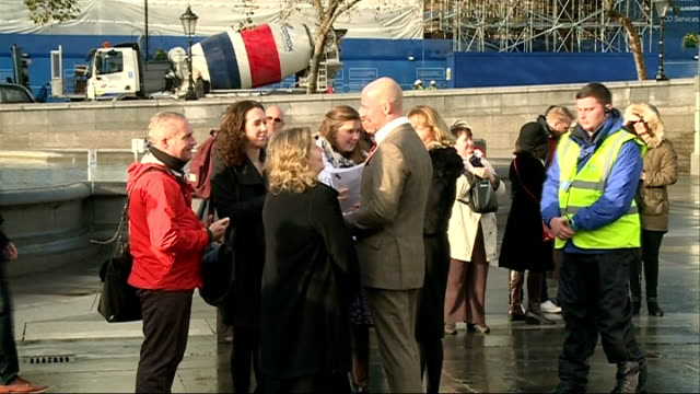 every man remembered sculpture unveiled in trafalgar square england london trafalgar square ext general views of every man remembered sculpture... - sockel stock-videos und b-roll-filmmaterial