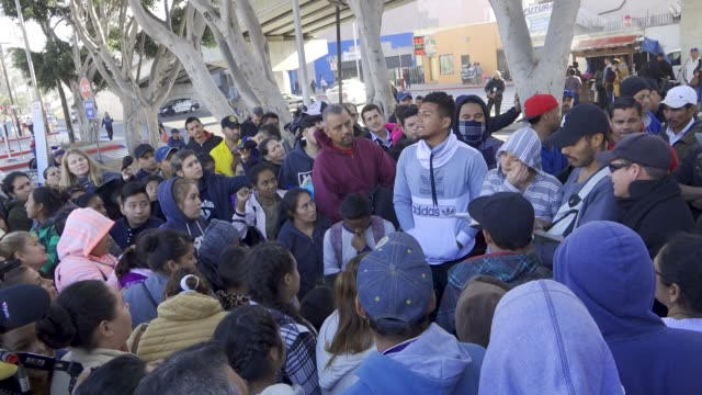 tijuana mexico – november 19 2018 every morning us asylum seekers gather at the san ysidro port of entry in tijuana and to request their names to be... - tijuana stock videos & royalty-free footage