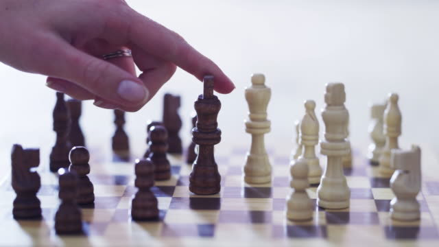 every move you make should be made with caution - chess stock videos & royalty-free footage