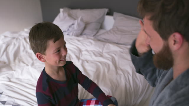 every son wants his father to be his greatest fan - high five stock videos & royalty-free footage