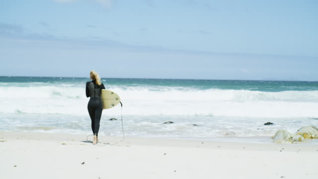 every surfer has to make the most of summer - wetsuit stock videos & royalty-free footage
