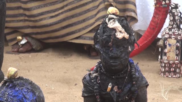 every year in january thousands of voodoo followers visit the beach in ouidah benin - benin stock videos and b-roll footage