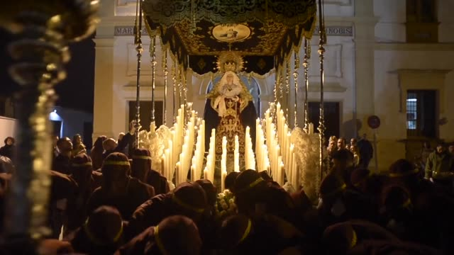 every year in malaga members of the spanish legion carry an effigy representing christ of the good death to mark easter in celebration of the... - resurrection religion stock videos & royalty-free footage