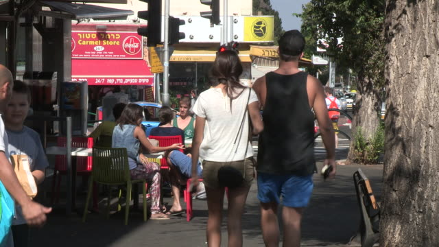 everyday life, haifa, israel - haifa video stock e b–roll