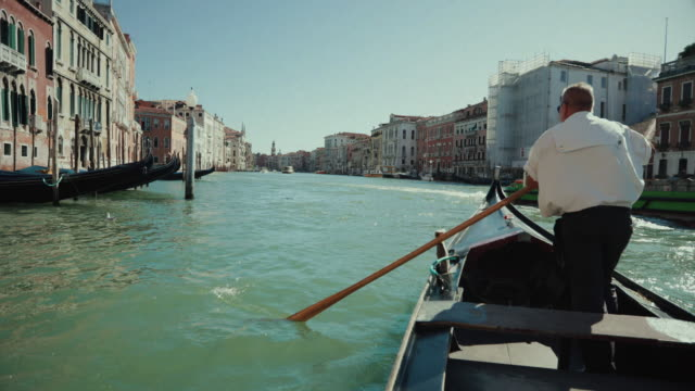 everyday life of a summer day in venezia full of tourists - getting away from it all stock videos & royalty-free footage