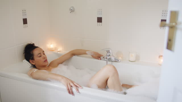 everyday should be bubble bath day - candlelight stock videos & royalty-free footage