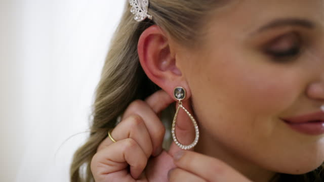 everything about her says elegance - earring stock videos & royalty-free footage