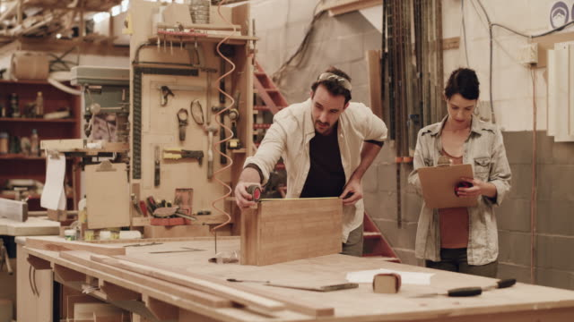 everything has to be perfect - carpenteria video stock e b–roll
