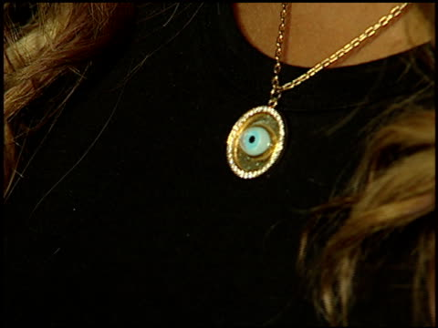 eve's necklace at the rolling stone magazine 40th anniversary party at hard rock hotel in las vegas, nevada on september 8, 2007. - ハードロックカフェ点の映像素材/bロール