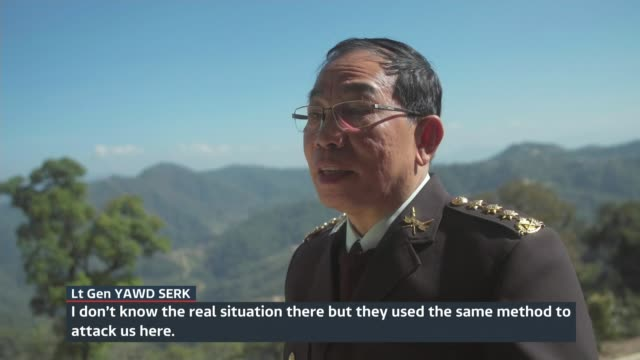 Evidence for persecution of ethnic minorities found in Shan state Shan State EXT Lieutenant General Yawd Serk set up shot with reporter / interview...
