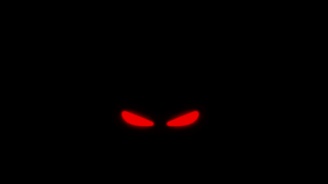 evil red eyes in the dark - animal eye stock videos & royalty-free footage