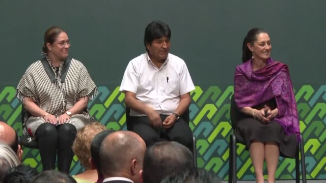 evo morales confirms he resigned to prevent his country from sinking into violence during a ceremony in mexico where he received the distinguished... - evo morales stock videos & royalty-free footage