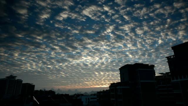 evolution of altocumulus(high cumulus cloud) above the karst area - altocumulus stock videos and b-roll footage