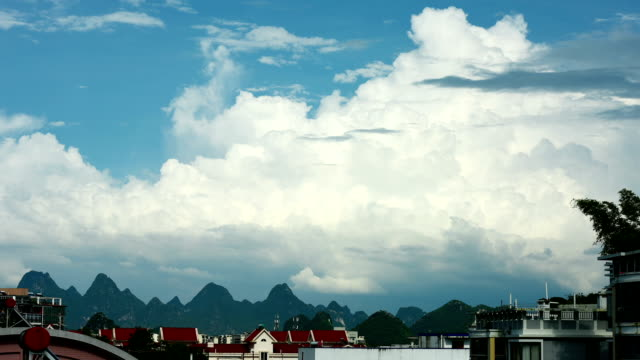 evolution of cumulonimbus above the karst area - stratocumulus stock videos and b-roll footage