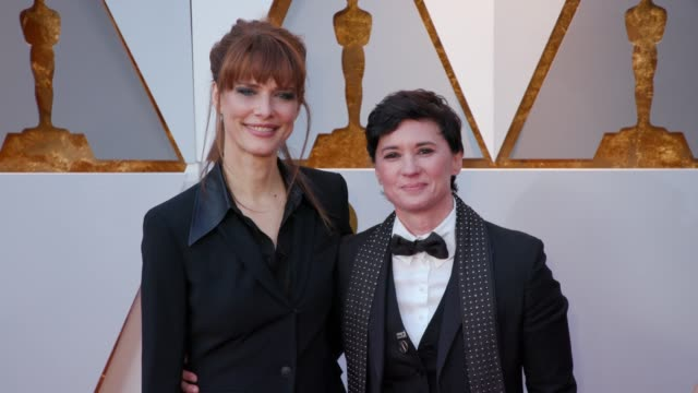 Evren Savci and Kimberly Peirce at the 90th Academy Awards Arrivals 4K Footage at Dolby Theatre on March 04 2018 in Hollywood California