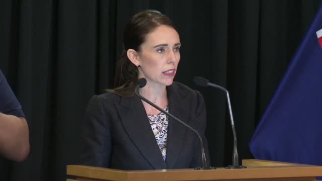 ew zealand prime minister jacinda ardern announces an immediate ban on the sale of assault rifles and semi automatic weapons in response to the... - rifle stock videos & royalty-free footage