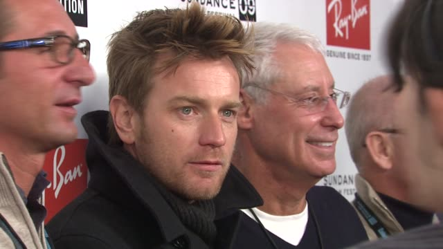 ewan mcgregor and alan cumming with creative coalition executives at the 2009 sundance film festival rayban visionary award honors ewan mcgregor at... - alan cumming stock videos and b-roll footage
