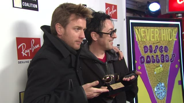ewan mcgregor and alan cumming with ray ban visionary award at the 2009 sundance film festival rayban visionary award honors ewan mcgregor at park... - alan cumming stock videos and b-roll footage
