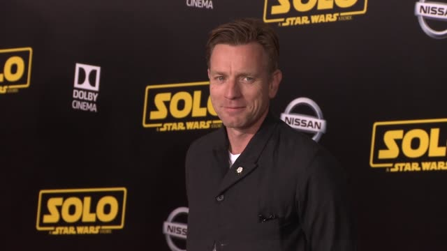 ewan mcgregor at the solo a star wars story world premiere at the el capitan theatre on may 10 2018 in hollywood california - star wars stock videos & royalty-free footage