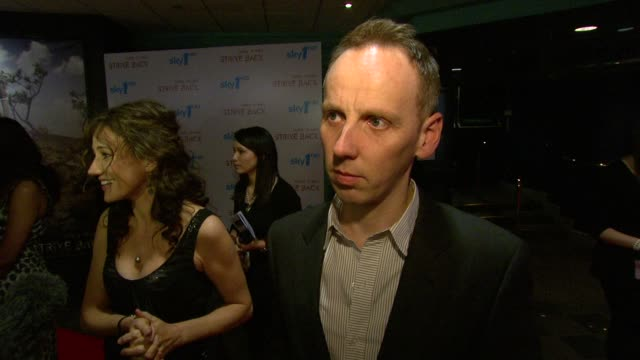 ewen bremner on haven't seen the film yet but hopeful that the quality would be as big as the us at the strike back premiere uk at london england - ewen bremner stock videos & royalty-free footage