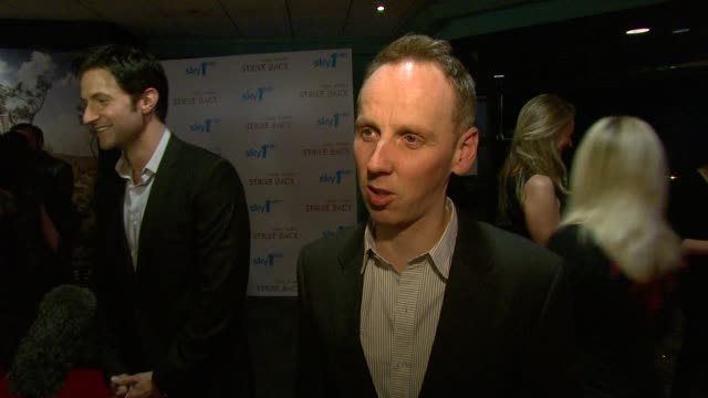 ewen bremner on keeping in touch with the other actors from train spotting on wanting to work with more good people and projects at the strike back... - ewen bremner stock videos & royalty-free footage