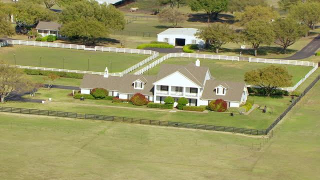 WS AERIAL ZO Ewing Mansion at Southfork Ranch / Parker, Texas, United States