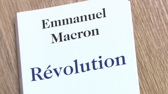 ex finance minister and french presidential hopeful emmanuel macron unveiled his new book revolution on thursday rejecting claims that he betrayed... - french revolution stock videos & royalty-free footage