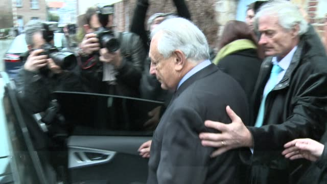 stockvideo's en b-roll-footage met ex imf chief dominique strauss kahn is back in court in france to take the stand for a second day in a bid to convince judges he was not at the heart... - bod