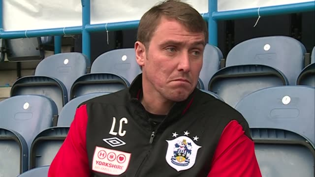 ex newcastle midfielder and now huddersfield town coach lee clark on plans to rename newcastle united's ground st. james' park to the sports direct... - huddersfield town football club stock videos & royalty-free footage